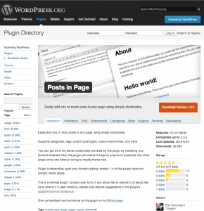 Plugin page on WordPress.org