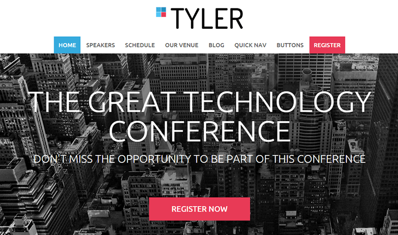 Tyler event theme for WordPress