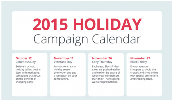 Setting up your calendar for 2015 holiday ecommerce marketing