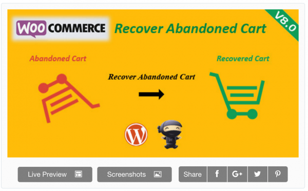 Recover abandoned carts with WooCommerce WordPress plugin