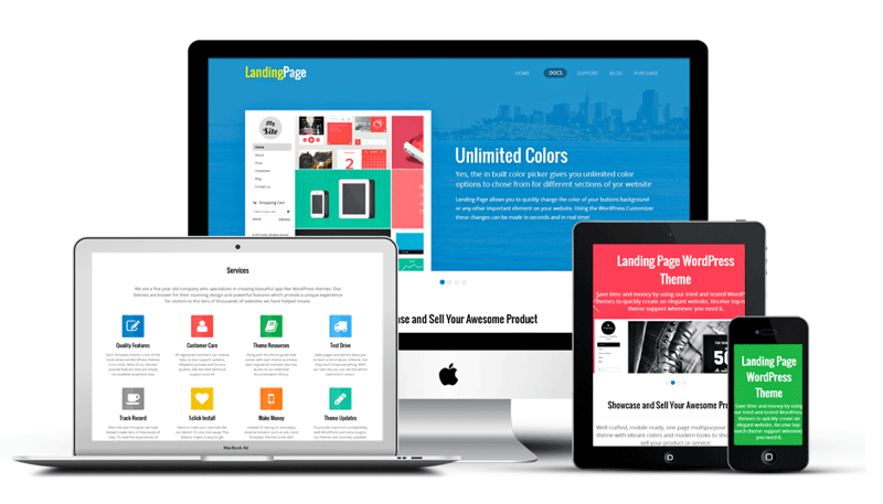 Landing Page theme from Templatic provides a wide range of widgets to customize your page.