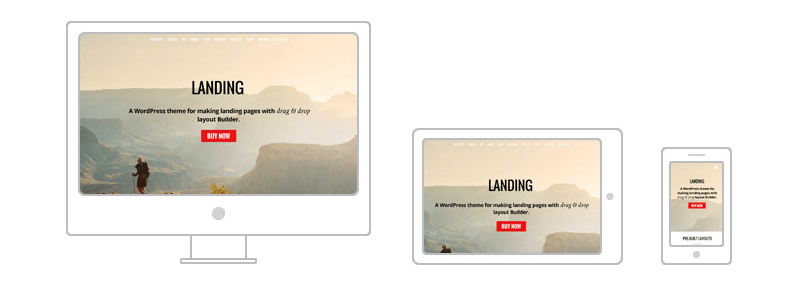 Themify's Landing theme provides fluid responsive design.