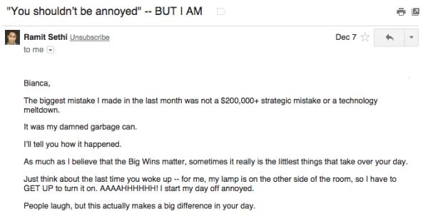 Ramit Sethi Storytelling Email
