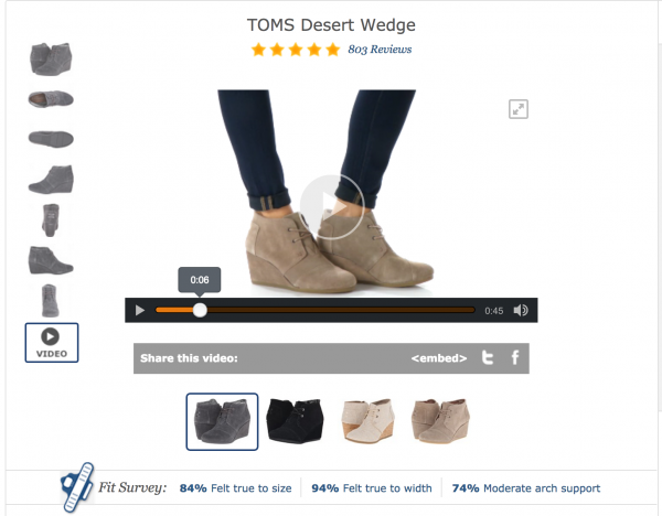 zappos product pages example conversion